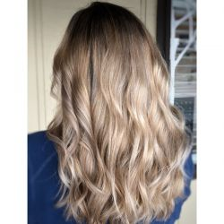 Balayage with full highlights